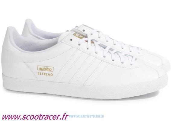 adidas gazelle blanc femme pas cher