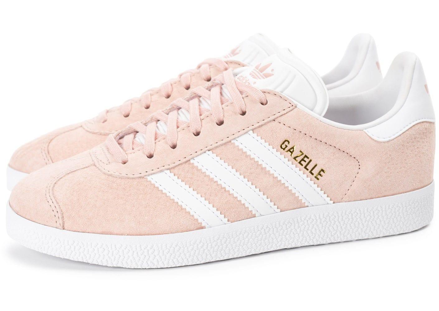 adidas gazelle femme rose pale pas cher