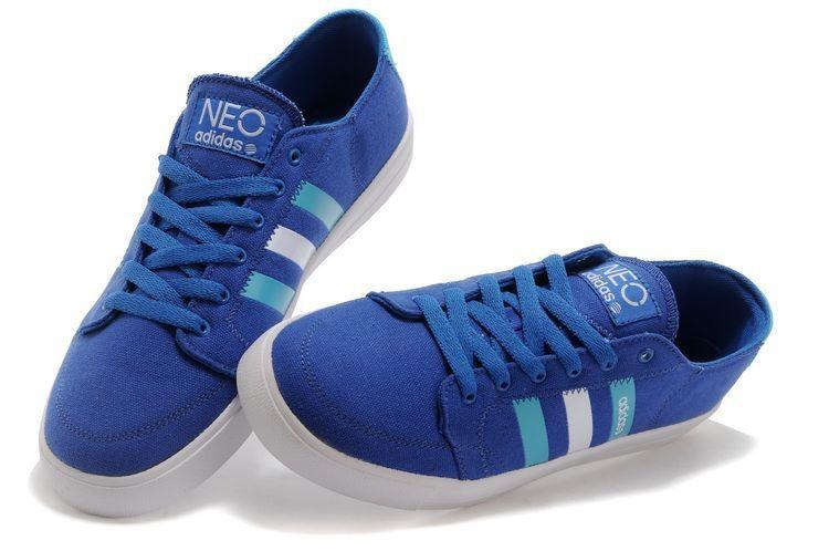 adidas neo bleu femme