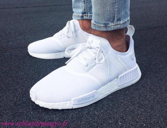 fournir beaucoup de grande vente bon ajustement adidas nmd blanche