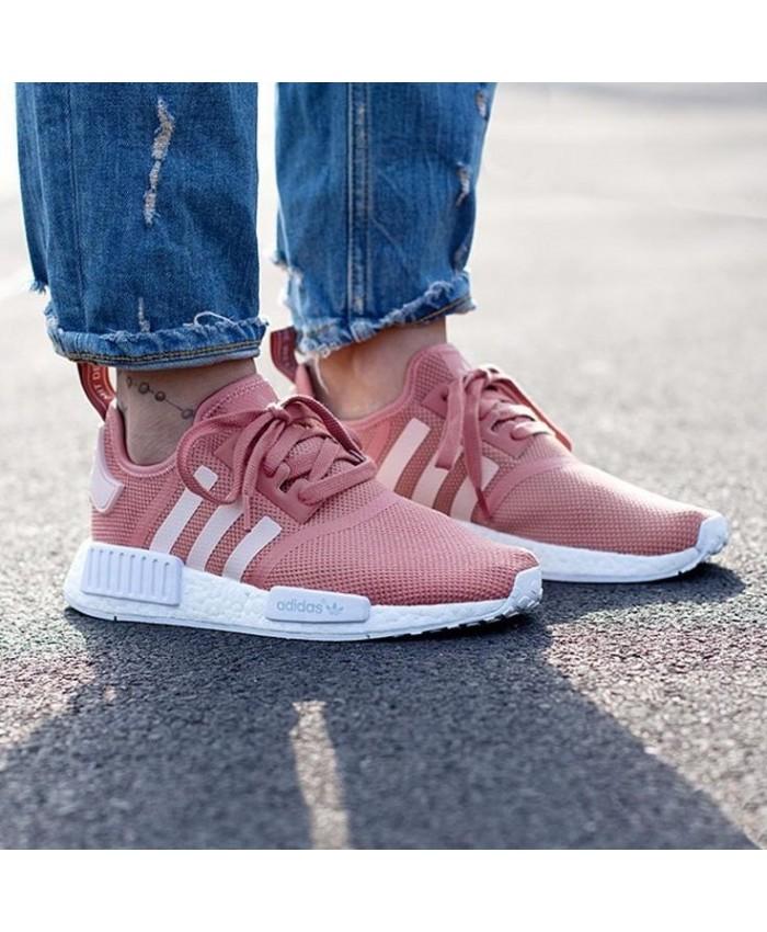 Adidas Originals NMD R1 Femme Chaussures De Sport Rose Rose