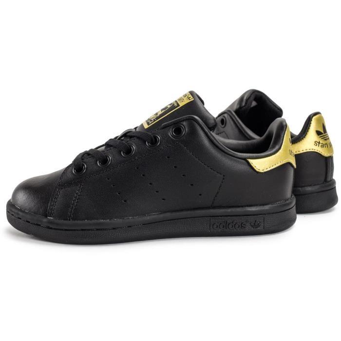adidas stan smith femme noir et or