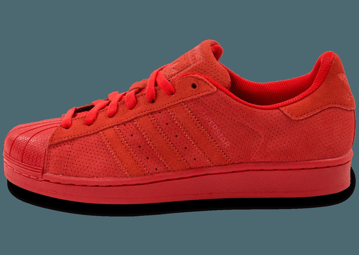 la moitié 44ecd 905a8 adidas superstar daim rouge