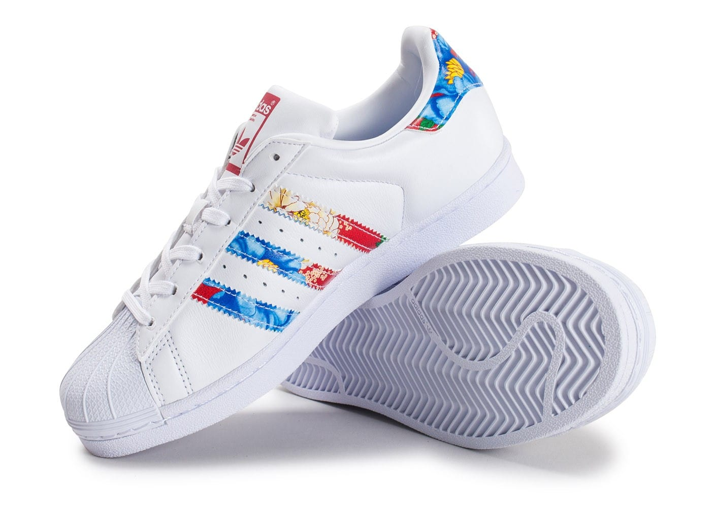 adidas Originals Superstar C Blanc Cuir Formateurs