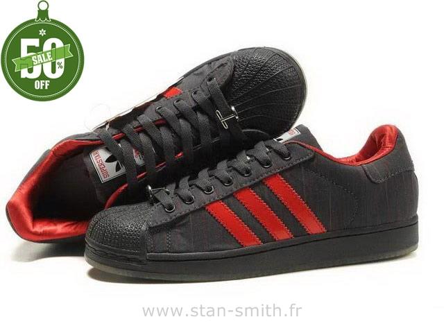 acheter en ligne 7ea0b e5d29 adidas superstar noir et rouge