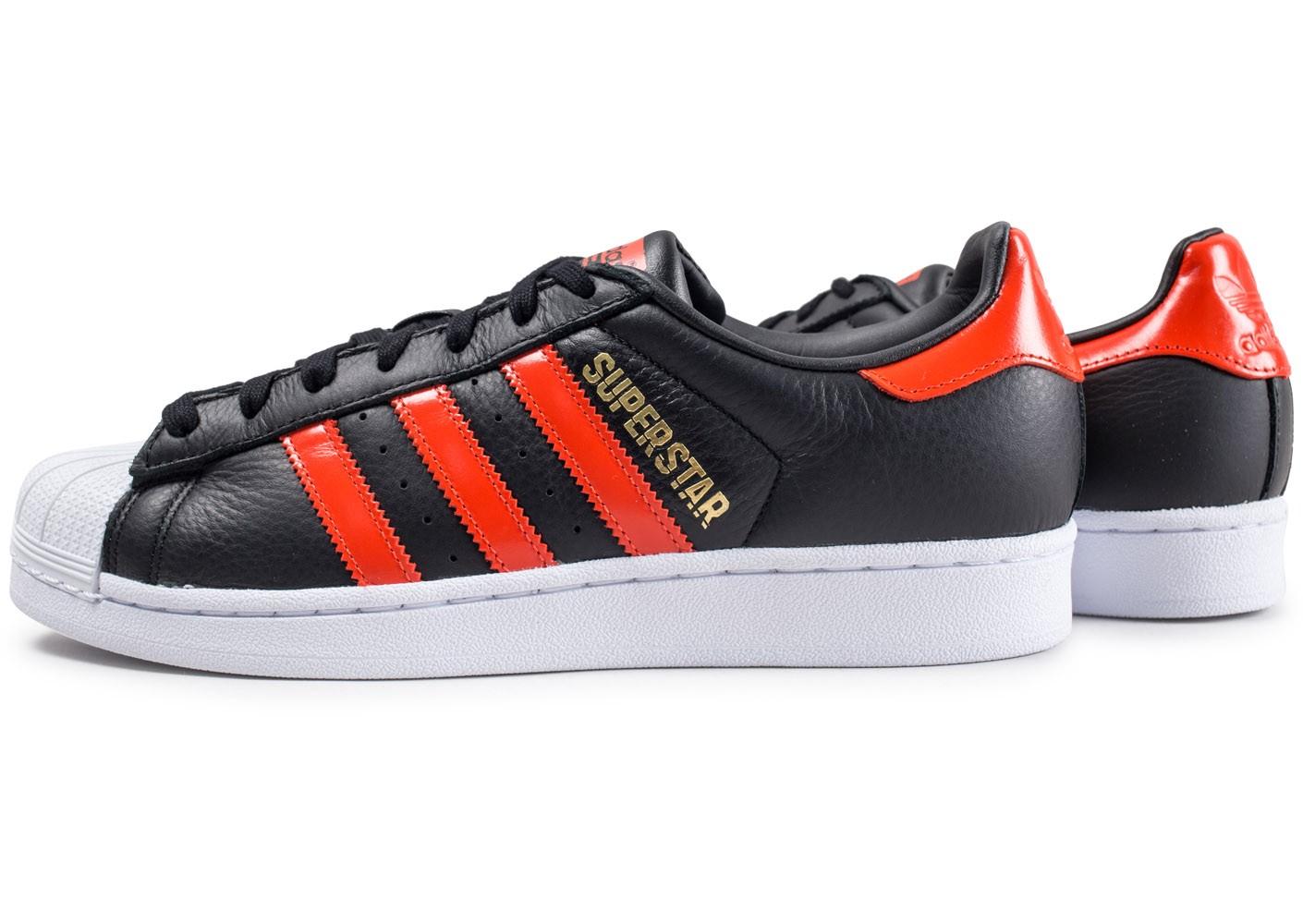 acheter en ligne 20185 ef688 adidas superstar noir et rouge