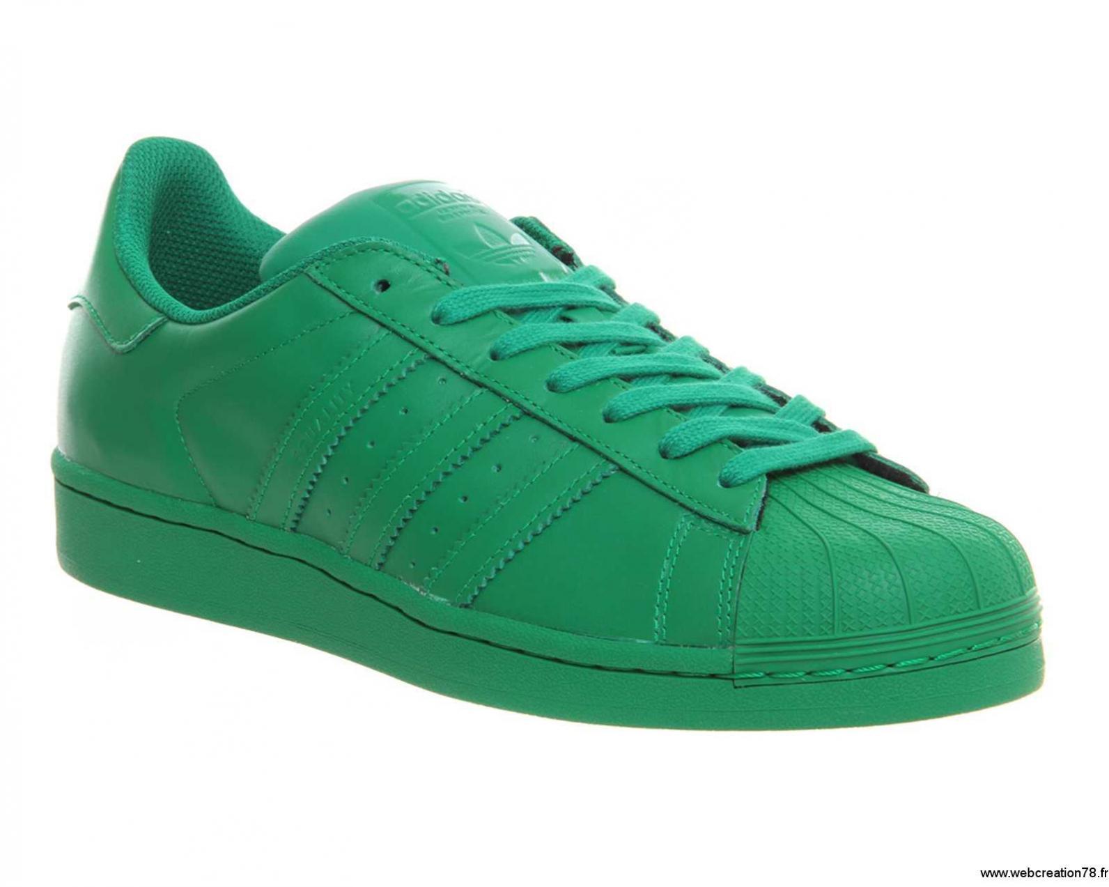 adidas superstar pharrell vert