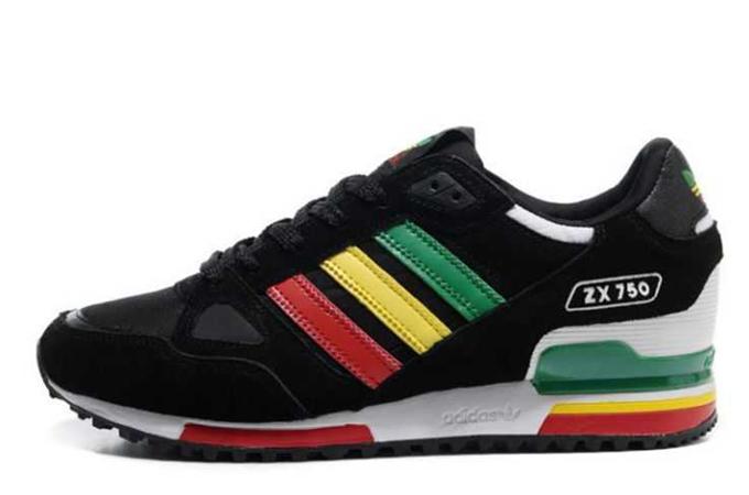 taille 40 c1e10 95a0b adidas zx 750 vert jaune rouge
