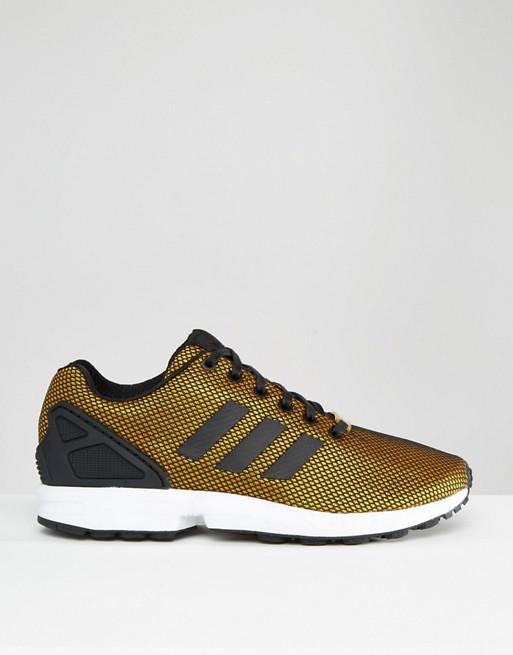 adidas zx flux noir doré
