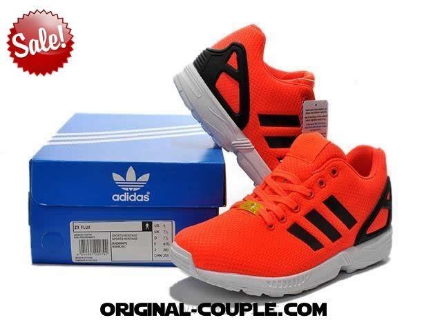 adidas zx flux orange fluo femme