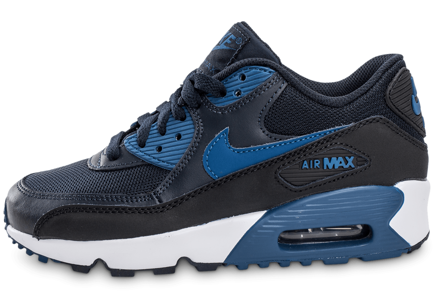 moins cher d4289 cdc5a air max 90 mesh junior bleu marine
