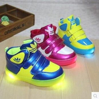 basket adidas lumineuse fille