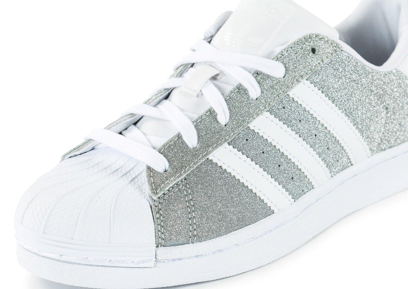 tout neuf cacd9 b5392 basket adidas paillette argent