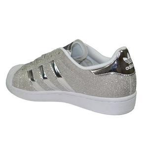 look good shoes sale 100% genuine cute cheap basket adidas paillette argent