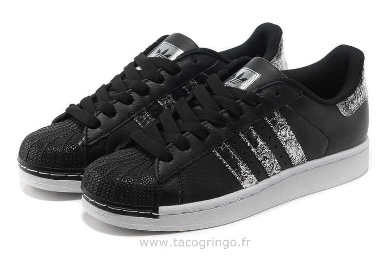 chaussure adidas femme superstar noir