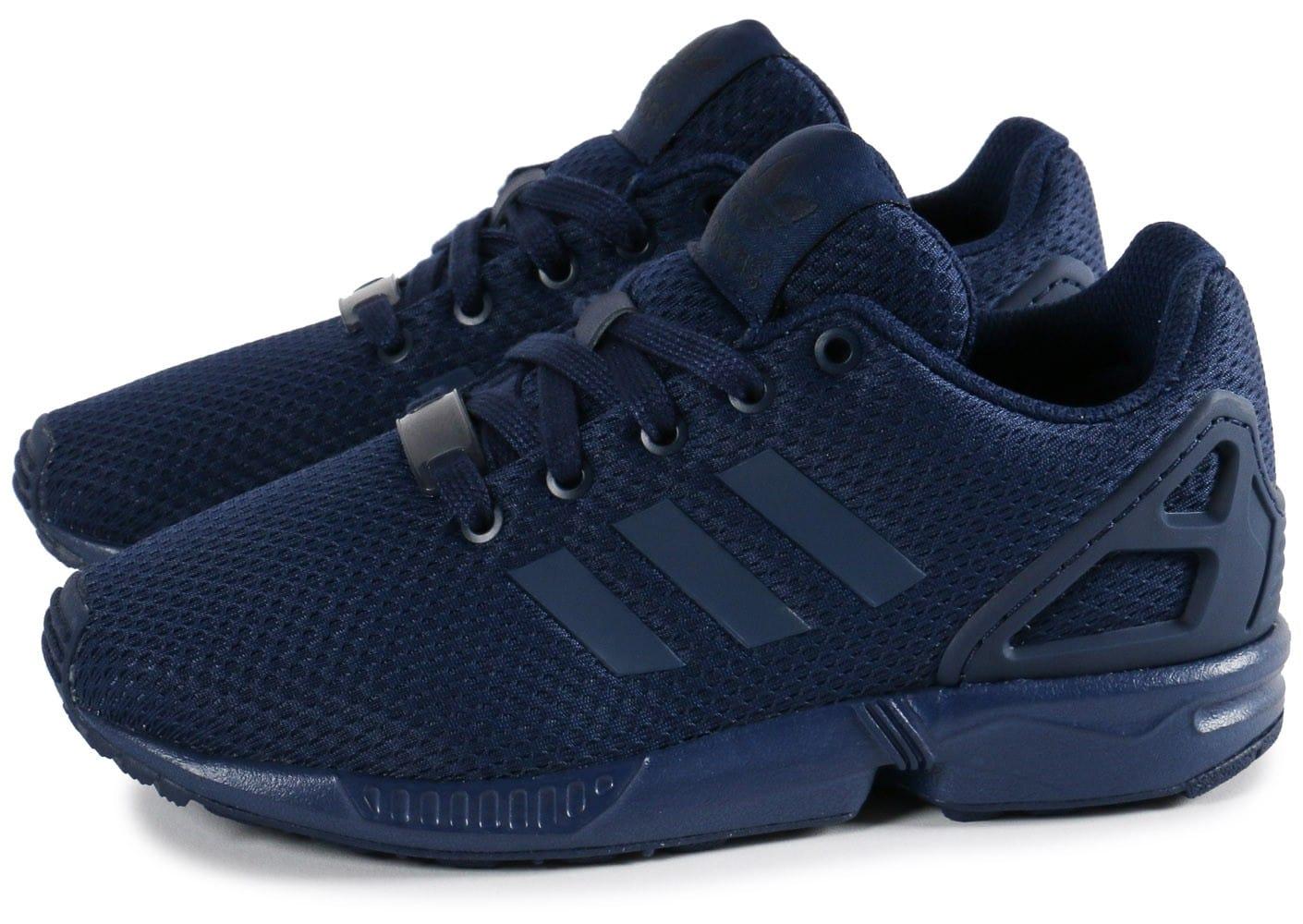 économiser 41e6c f45c5 basket adidas zx flux bleu