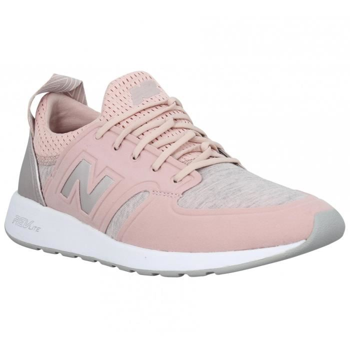 basket new balance femme rose pale