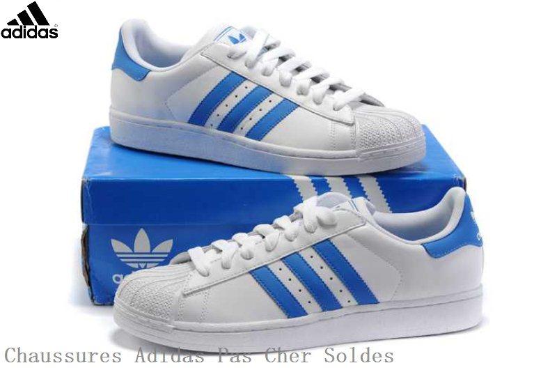 chaussure adidas bleu et blnche