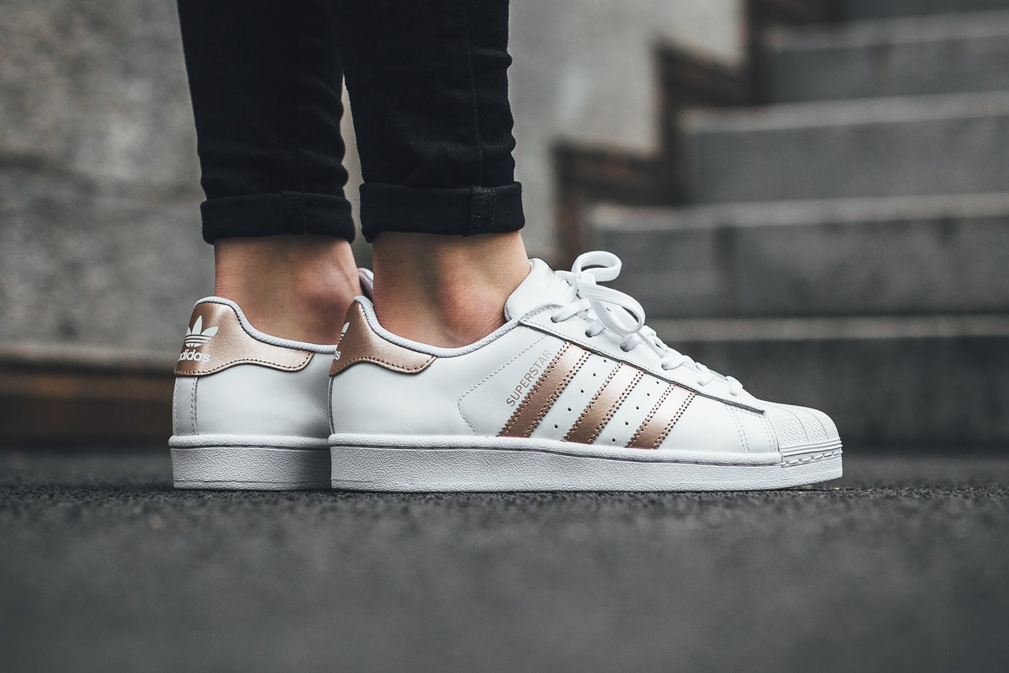 check-out 3afe7 2f708 superstar rose gold pas cher
